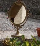 miroir psyche bronze style louis XV vintage