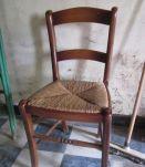 Table de ferme ancienne avec 4 chaises