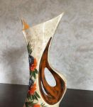 -Vase Vallauris vintage (année 50), décoré main, signé Tess