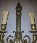 3 anciennes appliques bronze