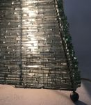 Lampe en verre pyramidale