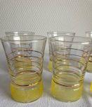 6 verres granité vintage