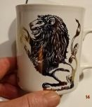 Grand mug décoré signe zodiacal lion