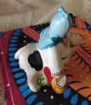 Figurine ukrainienne Kozak et sa vache