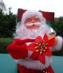 Père Noël automate sur son monocycle 20cm avec notice à pil