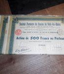 Lot 10 Actions de 500 francs au Porteur en 2 lots 1927-1931