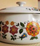 Caquelon casserole Royal porcelaine de luxe vintage