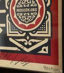 Lithographie de Shepard Fairey Numérotée et Signée intitulée