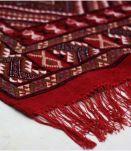 Tapis kilim fait main en laine couleur rouge