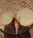 2 pots à lait signés Digoin France, artisanal