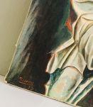 "Repro ancienne sur châssis toile Picasso ""Pierrot assis"""
