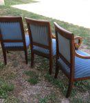 fauteuils + pouf ottoman époque restauration