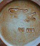 2 pot en terre cuite vallauris fait main signature