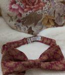 Vintage noeud papillon imprimé soie