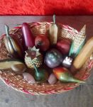 Ensemble de fruits et légumes en bois (Artisanat africain)