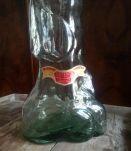 Ancienne bouteille en verre de Chianti (éléphant)