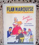 "Ancien protège cahier publicitaire "" Flan Marquise"""