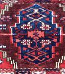 Tapis ancien Turkmène Yomud fait main, 1P93