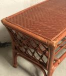 Table basse vintage rotin osier