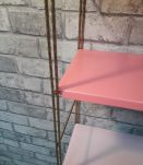 Etagere string style tomado  metal rose