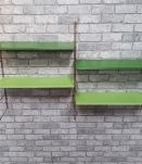 Etagere string style tomado 1960 metal  vert 2 tons 4 tablet
