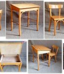 Set chaise, fauteuil, pupitre scolaire BAUMANN