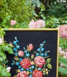 Tableau canevas bouquet de fleurs, vintage