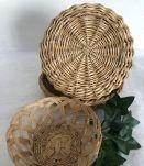 Set d'anciens paniers et corbeilles miniature