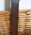 Corbeille en osier rectangulaire