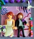 Cadre de mariage Playmobil personnalisable