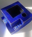 Porte crayon desktop bureau bleu escalier pot