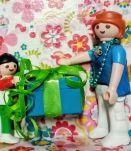 Cadre Playmobil turquoise, personnalisable, cadeau