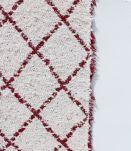Tapis 170 x 240 cm - Bordeaux et blanc - Reversible
