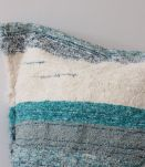 Housse de pouf + rembourrage - 120 x 120 cm - Bleu et blanc