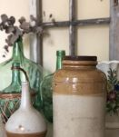 Grand pot et bouteille grès