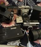LOT appareils photos caméra et objectif collection