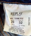 Jeans Replay droit, femme, M, 29/32, denim