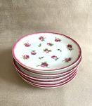 6 assiettes à gâteau Bernardaud modèle «aux roses»