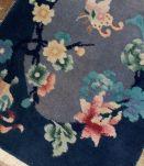Tapis ancien Chinois Art Deco fait main, 1B530