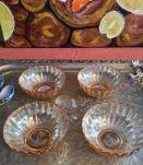 lot de 4 coupelles verre irisé rose orangé marque GONDOLO