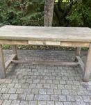 Table de ferme en chêne massif 1950 - 170 cm x 86 cm