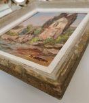 Tableau à huile signé M.Adrian encadré. 19x22 cm (26x30.5)