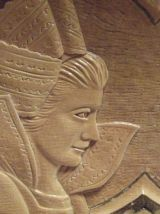 plateau vintage sculpté