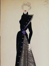 Croquis Mode 1950  / Manteaux suite