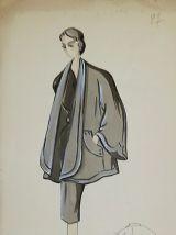 Croquis Mode 1950  / Manteaux et robes