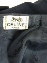 Jupe Céline vintage en laine bleu marine Taille 36