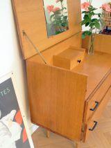 Commode coiffeuse vintage 60's pieds compas