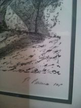 lithographie l'homme à la pipe