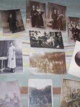 lot 30 cartes postales photos soldats couples mariages etc ..