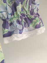 Robe à fleurs bleues - prairie - floral